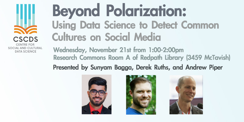 "Beyond Polarization: Using Data Science to Connect Common Cultures on Social Media"" Graphic"