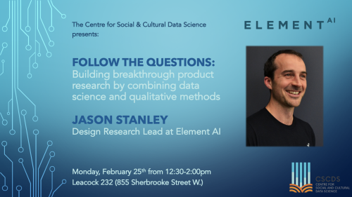 CSCDS Speaker Series: Jason Stanley from Element AI