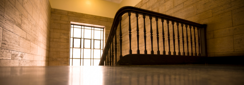 Stairwell in McGill building