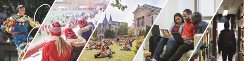 Collage of students at McGill