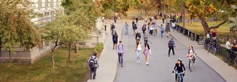 McGill's downtown campus promenade