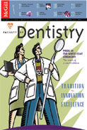 Cover of Faculty of Dentistry alumni newsletter, volume 82, 2002-2003.