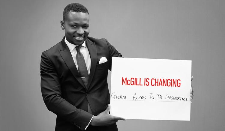 MBA student Collins Oghor's (MDCM/MBA'18) research contributes toward global access for TB diagnostics.