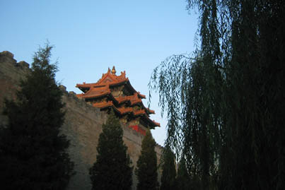 Guard tower of the Forbidden City from Tian An Men Square.