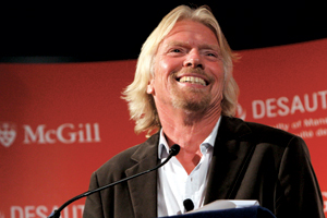 Sir Richard Branson talks to our students and alumni during the Faculty's Peter