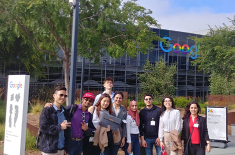 MMA Students at Google Headquarters