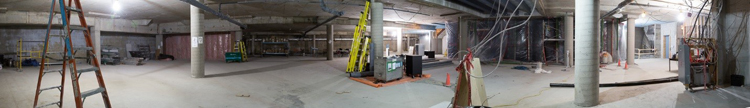 Panoramic view of basement, MBA and Masters building
