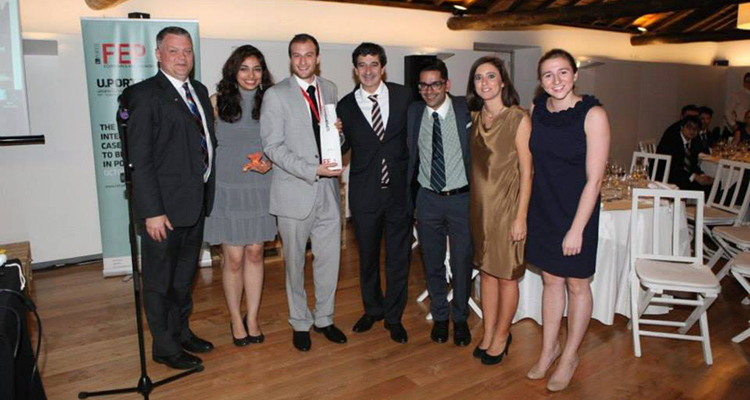 From left: Professor Richard Donovan, Shonezi Noor (BCom'14), Jeremy Singer (BCom'14), João F. Proença (Dean and Chairman of the Scientific Council of the School of Economics and Management, University of Porto), Katan Patel (BCom'13), Renata Blanc (Program Director International Full Time MBA at Porto Business School and Coach of the FEP International Case Teams), Brooke Freeman (BCom'14)