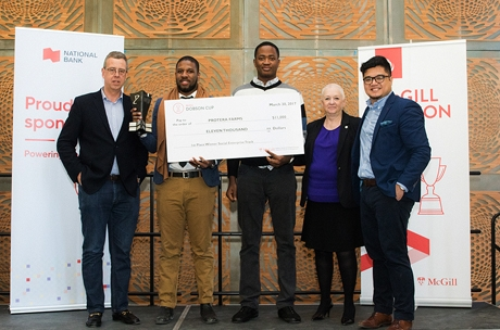 The McGill Dobson Cup 2017 has awarded a total of $106,000 in seed funding to top startups