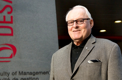Marcel Desautels honoured with the Friend of McGill in Toronto Award