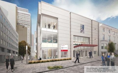 The Donald E. Armstrong Building will house our MBA and specialized Masters programs.