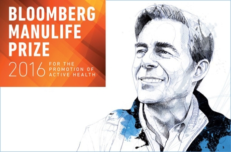 Dr. Thomas Robinson is the winner of the 2016 Bloomberg Manulife Prize