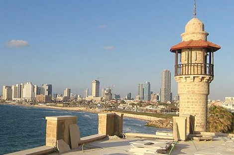 View of Tel-Aviv from Saint Nicholas Armenian Monastery by Sarouj