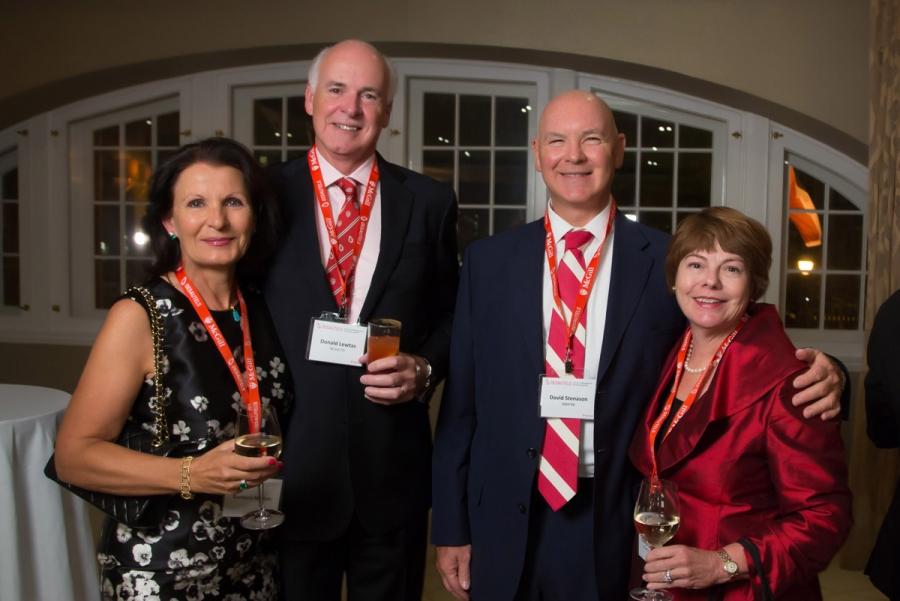 From left to right: Barbara Mitton, Don Lewtas (BCom'75, Chair of the Desautels Faculty of Management Advisory Board), David Stenason (MBA'80), Cheryl Stenason (BCom'77, MBA'80)