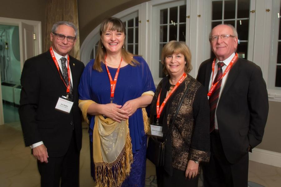 Eric Rodier (BCom'67, MBA'73), Dean Isabelle Bajeux, Mona Aronovitch (BCom'67), Joe Fogel