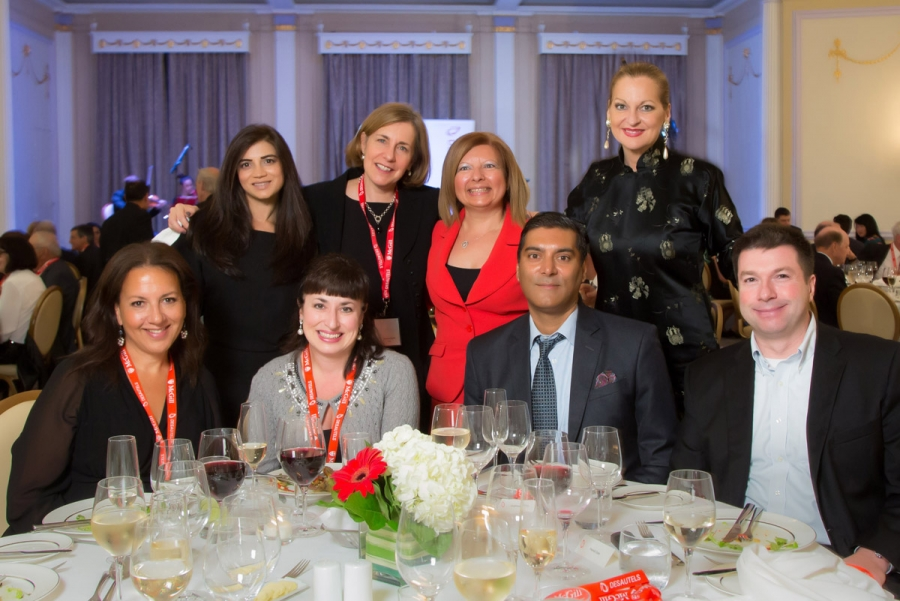 Debbie Dankoff, Anne-Marie Larche (BCom'92), Leighton Prabhu (BCom'89), Patrick Cote (BCom'92), Sahar Ahmad (BCom'97), Marie Jose Beaudin, Anne Mastrangelo (BCom'87), Rita McAdam