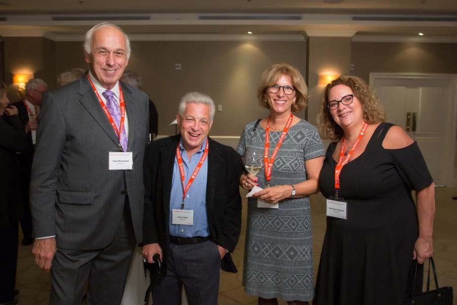 Paul Marchand (BCom'72), Jack Cohen (BCom'72), Louise Myrand (BCom'82), Johanne Lowson (BCom'82)
