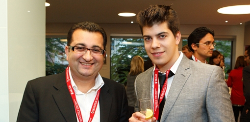 Karim Salabi, BA'91, MBA'96, Nicholas Drew, BCom student