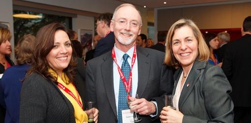Gilda Janet Marinho-Greig, Stanley Greig, BCom '67, Marie-José Beaudin, Executive Director Career Services (Owen Egan)