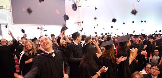 Desautels Class of 2013 celebrating their graduation (Photo: Owen Egan)