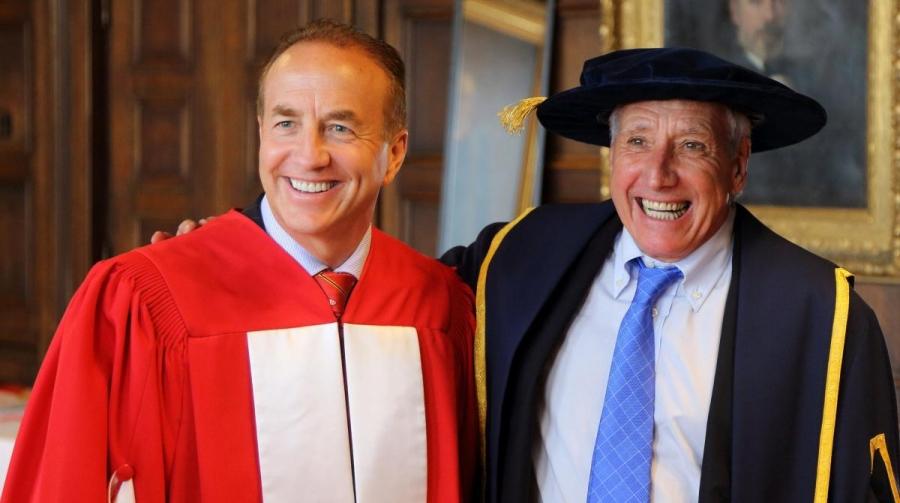 John McCall MacBain (BA'80, LLD'14) with Tullio Cedrashi MBA'68 (Photo: Owen Egan)