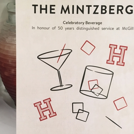 Celebrating Henry Mintzberg's 50th anniversary with a special personalized mocktail.
