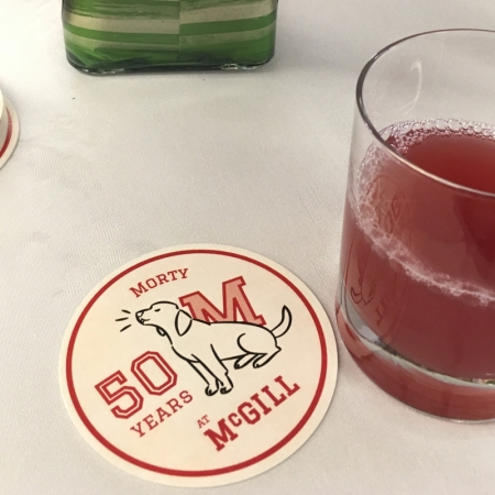 Celebrating Morty Yalovsky's 50th anniversary with a special personalized mocktail.
