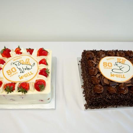 Morty Yalovsky's strawberry shortcake and Henry Mintzberg's chocolate cake.