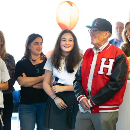 Professor Henry Mintzberg and his loved ones celebrate his 50th anniversary at McGill.