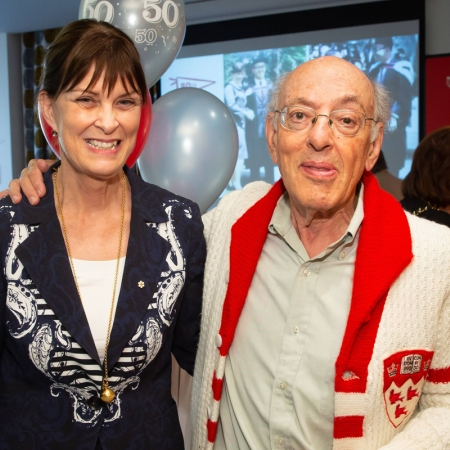 Principal Emerita Heather Munroe-Blum and Professor Henry Mintzberg.