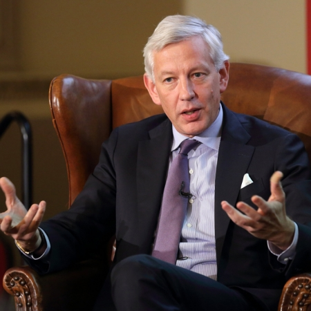 Dominic Barton, Global Managing Director of McKinsey & Co, shares experience with audience