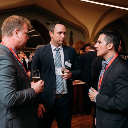 November 2, 2017 - Prof. Jan Ericsson, Academic Director MMF & HIM and Prof. Vadim di Pietro, Chief investment Officer DCM in conversation with Marc Larouche at Fiera Capital