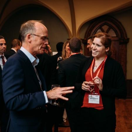 November 2, 2017 - Jim McMullan, Senior Vice President at Caisse de dépôt et placement du Québec with Sarah-Anne Brault, MMF'19