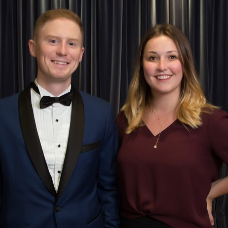 David Fortin (BCom'12) and Rachel Burk (BCom'17)