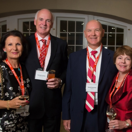 From left to right: Barbara Mitton, Don Lewtas (BCom'75, Chair of the Desautels Faculty of Management Advisory Board), David Stenason (MBA'80), Cheryl Stenason (BCom'77, MBA'80)