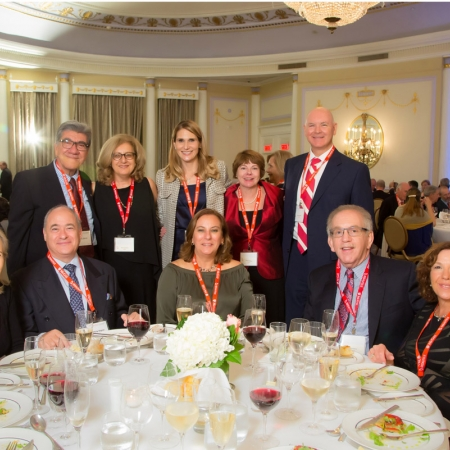 Diane Napier, Philip Napier, Tania Kalecheff (BCom'77), David Berk (BCom'77), Michelle Berk, Henry Zalzal, Nayiri Dolabyan (BCom'77), Tiffany Phelps, Cheryl Stenason (BCom'77, MBA'80), David Stenason (MBA'80)