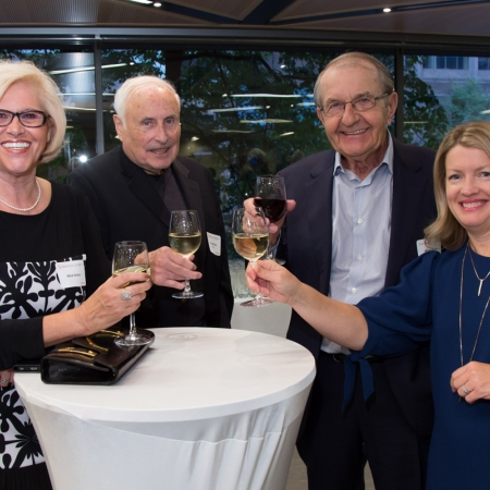 Alice Jira, Barry Wilson (BCom'62), Milan Jirava (BCom'62), Heather Hopkinson