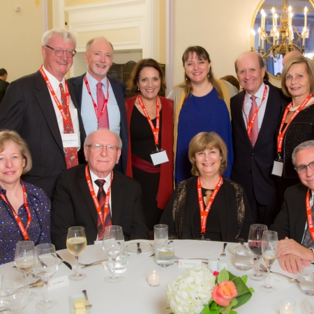 Dean Isabelle Bajeux, David Lardley (BCom'67, Keynote Speaker) with BCom Class of '67