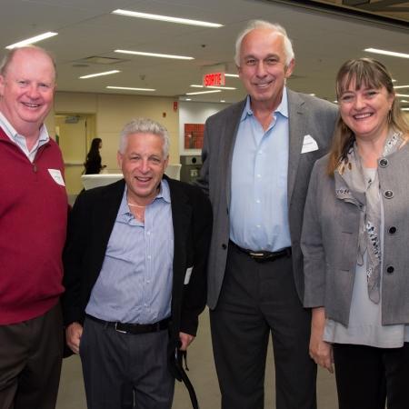 James Lisson (BCom'72), Jack Cohen (BCom'72), Paul Marchand (BCom'72), Dean Isabelle Bajeux