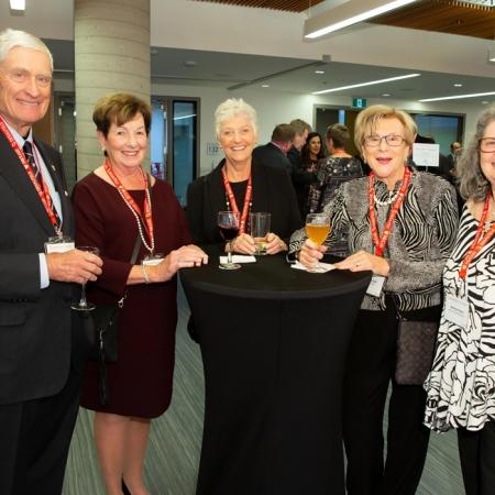 Robert Tedford (BCom'63), Jacqueline Brenan (BCom'58), Kathi Tedford, Ruth Scott (BCom'58), Marilyn Hayes (BCom'63)