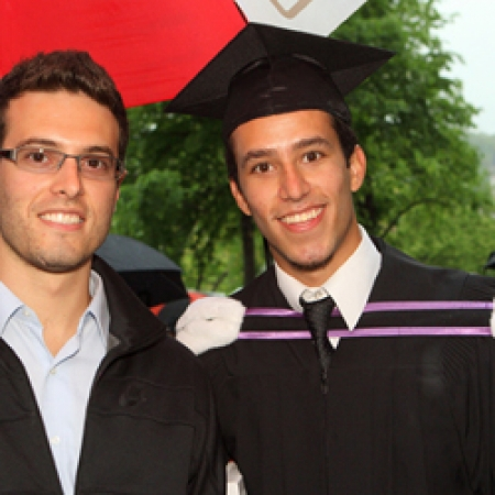 Recent graduate, Julian Illson (BCom'09) with his brother (Owen Egan)