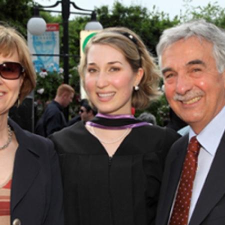 Brigitte St-Laurent, Julia Taddeo, BCom'10 and Dr. Donat Taddeo (Owen Egan)