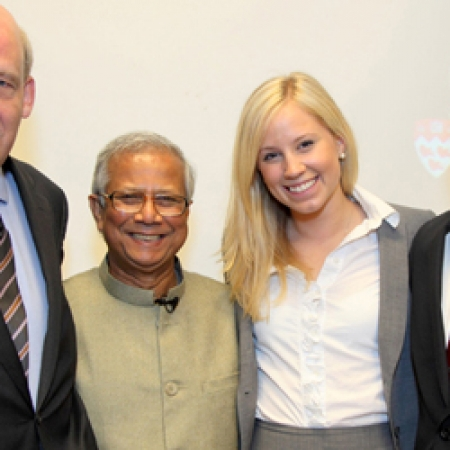 Prof. Moore, Dr. Yunus, Celine Junke and Mike Ross