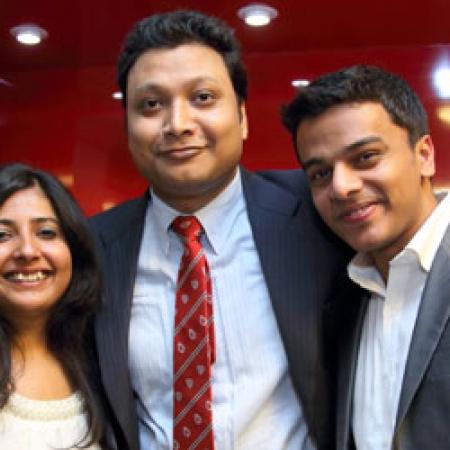 Shailendra Shailendra (MBA'13) and friends (Photo: Owen Egan)