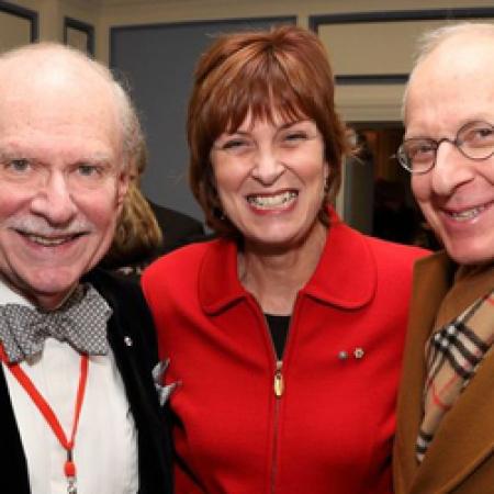 Chancellor Arnold Steinberg, BCom'54, LLD'00, Principal Heather Munroe-Blum, and Len Blum