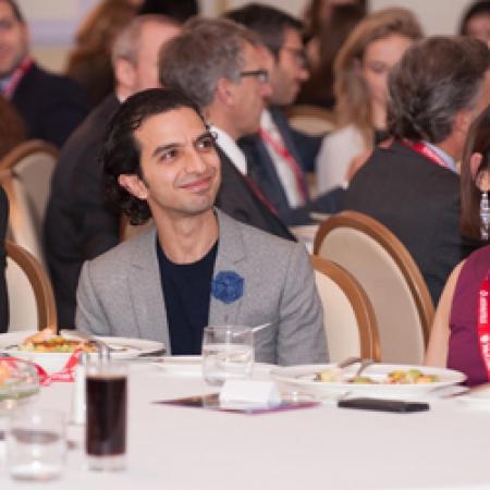 BCom student Joel Taillefer, Imran Amed (BCom'97), and BCom student Shonezi Noor