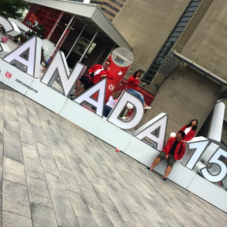 Toronto, Ontario: Celebrating 150 years of Canada. Located right next to the CN Tower.