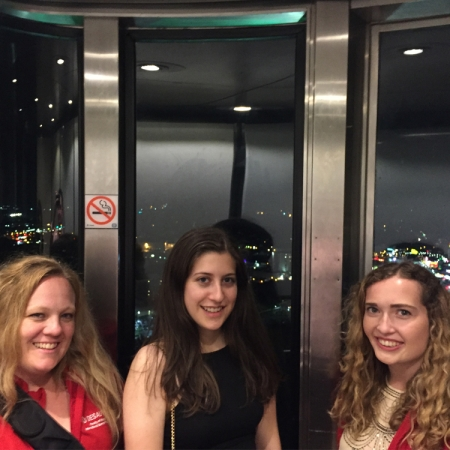 Niagara Falls, Ontario: Group dinner at the Skylon Tower. The tower offered a spectacular view of the falls. Students really enjoyed the falls at night, as it lit up in different colors. You also get a great view of the Canadians falls.
