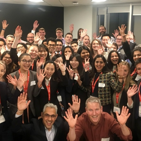 Wednesday, November 15th, 2017: Students with Desautels Global Expert Chandra Kumar (MBA'91) (President, Confectionery) of Nestlé Canada Inc. during their firm session.