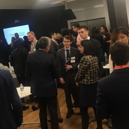 Wednesday, November 15th, 2017: Casual networking closes the Nestlé firm session.